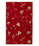 RugStudio presents Jaipur Rugs Poeme Alsace PM41 Red/Red Hand-Tufted, Good Quality Area Rug