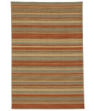 RugStudio presents Jaipur Rugs Pura Vida Tamarindo PV11 Sea Green/Rust Flat-Woven Area Rug
