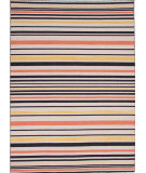RugStudio presents Jaipur Rugs Pura Vida Chapala Pv20 Ebony / White Ice Flat-Woven Area Rug