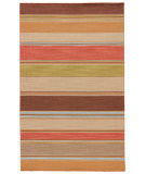 RugStudio presents Jaipur Rugs Pura Vida La Palma Pv22 Poppy / Lemon Flat-Woven Area Rug