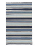 RugStudio presents Rugstudio Sample Sale 75004R Vanilla Ice / Dark Denim Flat-Woven Area Rug