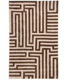 RugStudio presents Jaipur Rugs Fusion Labyrinth FN02 Beige/Brown Hand-Tufted, Good Quality Area Rug