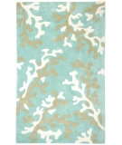 RugStudio presents Rugstudio Sample Sale 53367R Turquoise Blue/White Hand-Tufted, Good Quality Area Rug