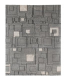 RugStudio presents Rugstudio Sample Sale 53400R Medium Gray/Ebony Hand-Knotted, Good Quality Area Rug