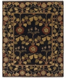 RugStudio presents Rugstudio Sample Sale 53481R Deep Charcoal Hand-Knotted, Better Quality Area Rug