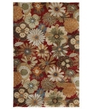 RugStudio presents Jaipur Rugs Blue Blossom BL21 Red Hand-Tufted, Good Quality Area Rug
