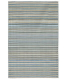 RugStudio presents Jaipur Rugs Coastal Living - Dhurries Malibu CC02 Pastel Blue Flat-Woven Area Rug