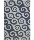 RugStudio presents Jaipur Rugs Coastal Living Indoor-Outdoor Wave Hello CI04 Dark Blue Hand-Hooked Area Rug