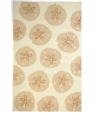 RugStudio presents Jaipur Rugs Coastal Living Indoor-Outdoor Sand Dollar CI06 Dark Ivory/Dark Ivory Hand-Hooked Area Rug