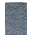 RugStudio presents Jaipur Rugs Riad Gem Ria02 Dark Denim Hand-Tufted, Good Quality Area Rug
