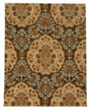 RugStudio presents Jaipur Rugs Lotus Rowan LT03 Cocoa Brown/Dark Ivory Hand-Tufted, Best Quality Area Rug