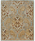 RugStudio presents Jaipur Rugs Lotus Dafo Sea Blue/Ice Blue Hand-Tufted, Good Quality Area Rug