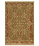 RugStudio presents Rugstudio Sample Sale 53426R Gold Brown/Red Hand-Knotted, Good Quality Area Rug