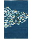 RugStudio presents Jaipur Rugs Coastal Living Hand-Tufted Schooled CH01 Aegean Blue Hand-Tufted, Good Quality Area Rug
