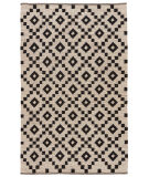 RugStudio presents Jaipur Rugs Scandinavia Nordic Croix Scn01 Antique White & Ebony Flat-Woven Area Rug