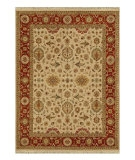 RugStudio presents Jaipur Rugs Biscayne Sheryn BS07 Dark Ivory/Red Ochre Hand-Knotted, Good Quality Area Rug