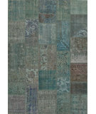 RugStudio presents Jaipur Rugs Sketch Terrain Skh03 Grass Green/Turquoise Hand-Knotted, Good Quality Area Rug