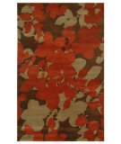 RugStudio presents Jaipur Rugs Blue Orchid BL02 Cocoa Brown/Red Ochre Hand-Tufted, Good Quality Area Rug