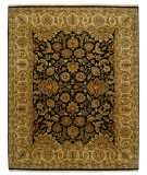 RugStudio presents Rugstudio Sample Sale 53284R Ebony/Sand Hand-Knotted, Good Quality Area Rug