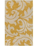 RugStudio presents Jaipur Rugs Blue Aloha BL08 Golden Apricot/Antique White Hand-Tufted, Good Quality Area Rug