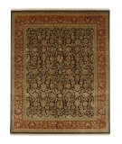 RugStudio presents Jaipur Rugs Aurora Tatyana AR09 Cocoa Brown/Red Ochre Hand-Knotted, Good Quality Area Rug