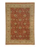 RugStudio presents Jaipur Rugs Biscayne Tessa BS09 Brick Red/Beige Hand-Knotted, Good Quality Area Rug