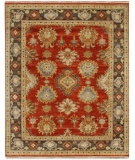 RugStudio presents Jaipur Rugs Lassen Park Trident LS06 Red oxide/Dark Brown Hand-Knotted, Better Quality Area Rug