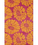 RugStudio presents Jaipur Rugs Traverse Flora Tv38 Canterbury & Sun Orange Hand-Tufted, Good Quality Area Rug