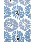 RugStudio presents Jaipur Rugs Traverse Flora Tv41 White Hand-Tufted, Good Quality Area Rug
