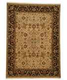 RugStudio presents Rugstudio Sample Sale 53551R Dark Ivory/Ebony Hand-Knotted, Good Quality Area Rug