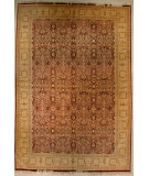 RugStudio presents J. Aziz Haj Jalili V-1603 Maroon Hand-Knotted, Good Quality Area Rug