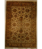 RugStudio presents J. Aziz Antiqued Jaipur 929 Fwn-Fwn 86846 Hand-Knotted, Good Quality Area Rug