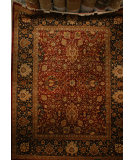 RugStudio presents J. Aziz Haj Jalili V-1631 Maroon / Black Hand-Knotted, Good Quality Area Rug
