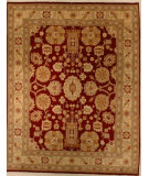 RugStudio presents J. Aziz 8-8 Shah Abbas 806 Red- 86840 Hand-Knotted, Good Quality Area Rug