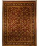 RugStudio presents J. Aziz 16-18 Shah Abbas 1627 Dark Red-Navy 86821 Hand-Knotted, Good Quality Area Rug