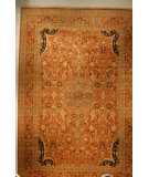 RugStudio presents J. Aziz Shah Abbas Antiqued V-1668 Bro 86746 Hand-Knotted, Good Quality Area Rug