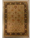 RugStudio presents J. Aziz Shah Abbas Antiqued V-1667 Snd-Blk 86745 Hand-Knotted, Good Quality Area Rug