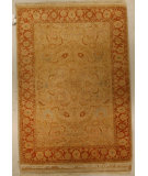 RugStudio presents J. Aziz Shah Abbas Antiqued V-1676 Snd-Bro 86754 Hand-Knotted, Good Quality Area Rug
