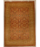 RugStudio presents J. Aziz Haj Jalili V-1603 Rust / Lemmon Hand-Knotted, Good Quality Area Rug