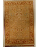 RugStudio presents J. Aziz Shah Abbas Antiqued V-1676 Snd-Bro 86753 Hand-Knotted, Good Quality Area Rug