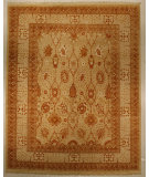 RugStudio presents J. Aziz Haj Jalili V-1681 Ivory Hand-Knotted, Good Quality Area Rug