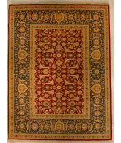 RugStudio presents J. Aziz Shah Abbas Antiqued V-1678 Red-Grn 86757 Hand-Knotted, Good Quality Area Rug