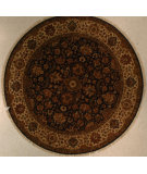 RugStudio presents J. Aziz Antiqued Jaipur Om-4 Blu-Lin 86856 Hand-Knotted, Good Quality Area Rug