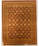 RugStudio presents J. Aziz Haj Jalili V-1680 Brown Hand-Knotted, Good Quality Area Rug