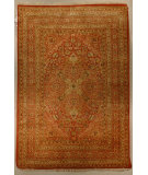 RugStudio presents J. Aziz Haj Jalili V-1682 RUST Hand-Knotted, Good Quality Area Rug
