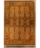 RugStudio presents J. Aziz Shah Abbas Antiqued V-1709 Bro-Oli 86774 Hand-Knotted, Good Quality Area Rug