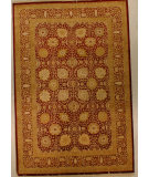 RugStudio presents J. Aziz Shah Abbas Antiqued V-1680 Red- 86760 Hand-Knotted, Good Quality Area Rug