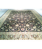 RugStudio presents J. Aziz Shah Abbas 2786 Black Hand-Knotted, Good Quality Area Rug
