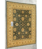 RugStudio presents J. Aziz Peshawar Ult-New Gray-Beige 87053 Hand-Knotted, Good Quality Area Rug