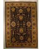 RugStudio presents J. Aziz Peshawar Ult-100 Black-Beige 86925 Hand-Knotted, Good Quality Area Rug